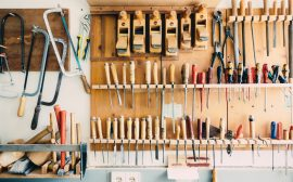 Rangements en bois pour outils de bricolage