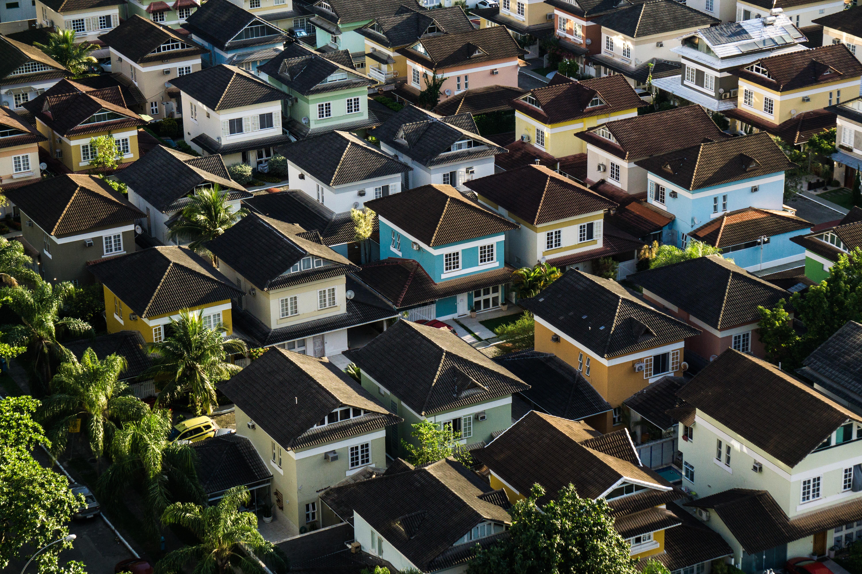quartier residentiel vu de haut